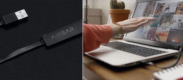 AirBar - сенсорный экран любого ноутбука