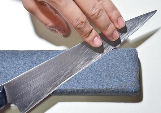 Как заточить нож, простой способ, видео