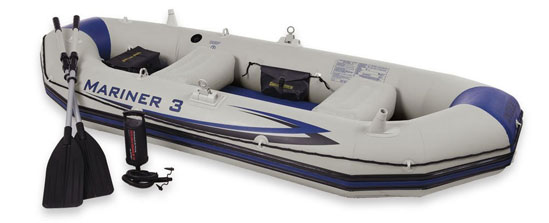 rowing inflatable boat