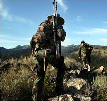 Подготовка для охоты в горах