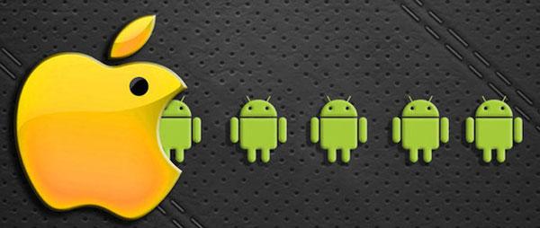 Доля iOS растет, доля Android падает